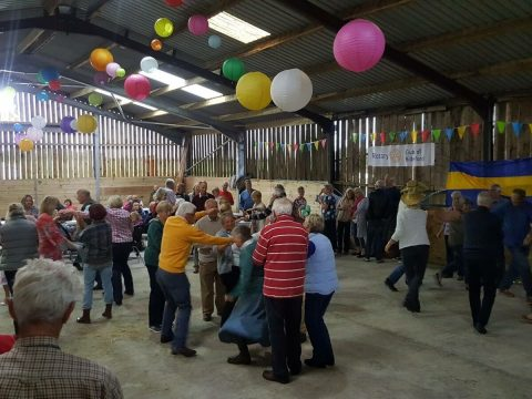 Charity barn dance filling boots image 11