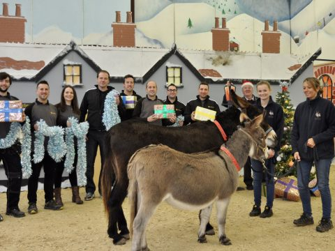 Sign makers donate 50 hours of labour to The Donkey Sanctuary image 3